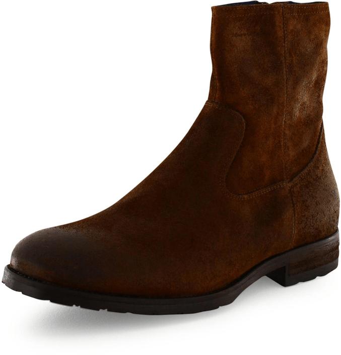Kjøp Marc O'Polo Flat Heel Shoe Waxy Suede Brune Sko Online