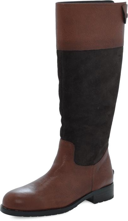 Kjøp Marc O'Polo Flat Heel Long Boot Oily Calf Printed Brune Sko Online