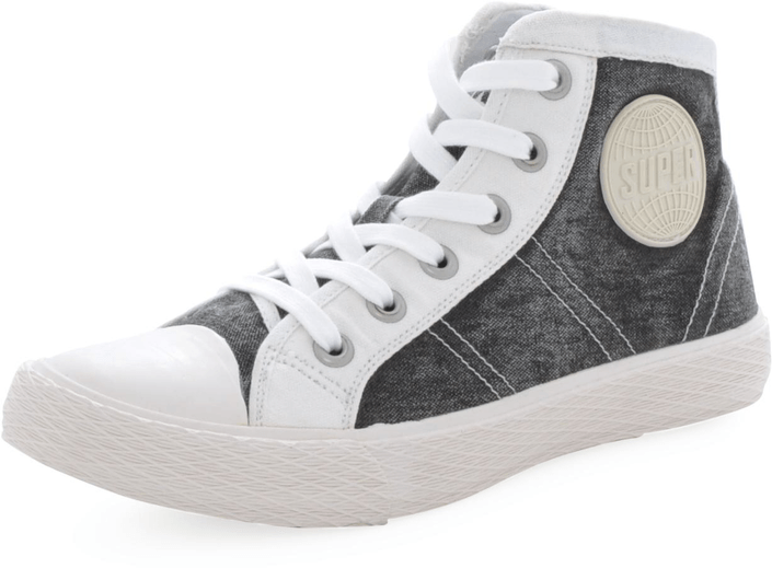 Kjøp Superdry Vintage Series-Boot Aged Black-Off  Grå Sko Online