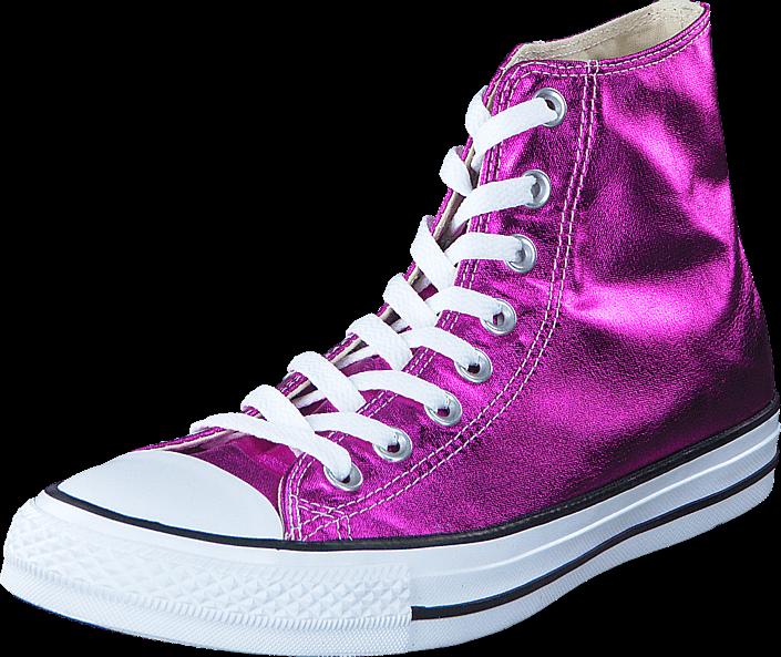 Kjøp Converse Chuck Taylor All Star Hi Magenta Glow/ Black/ White Lilla Sko Online