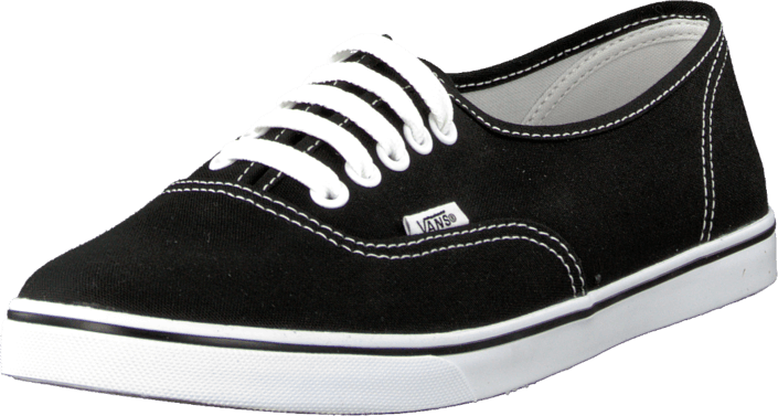 Kjøp Vans U Authentic Lo Pro Black/True White Svarte Sko Online