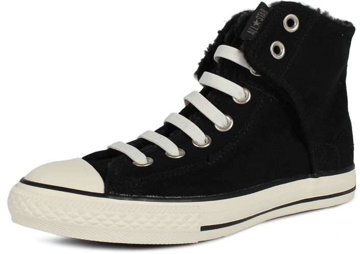 Kjøp Converse All Star Easy Leather Hi Svarte Sko Online