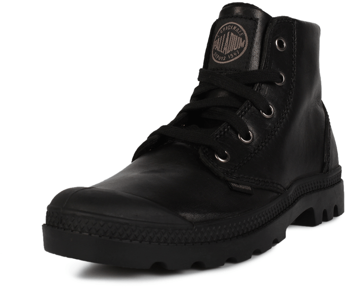 Kjøp Palladium Pampa Hi Leather Women Svarte Sko Online