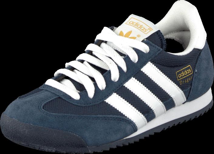 Kjøp adidas Originals Dragon New Navy/W/Met Gold Blå Sko Online