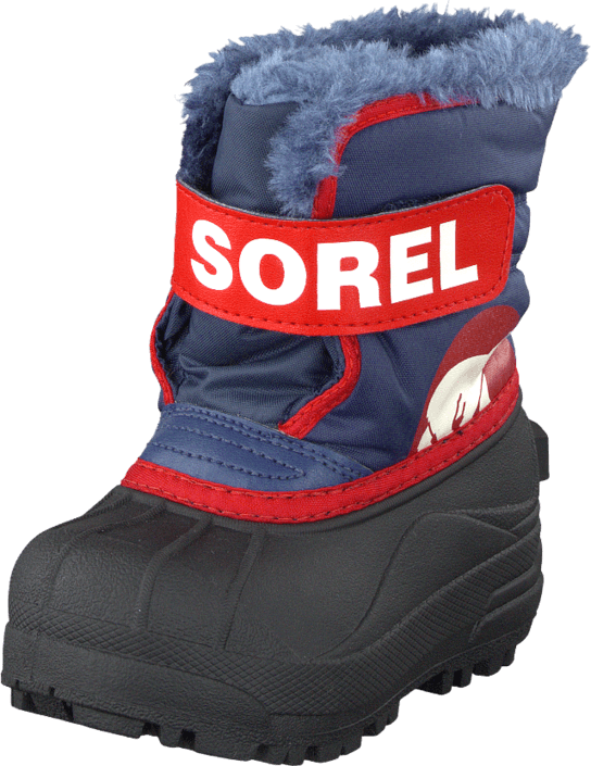Kjøp Sorel Snow Commander NV1805-591 Nocturnal/Sail Red Grå Sko Online