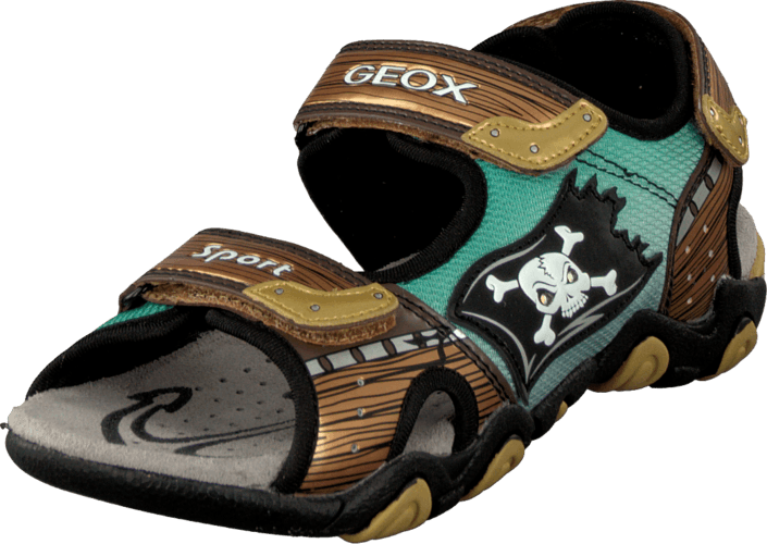 Kjøp Geox Jr Sandal Strike Brown/Gold Grå Sko Online