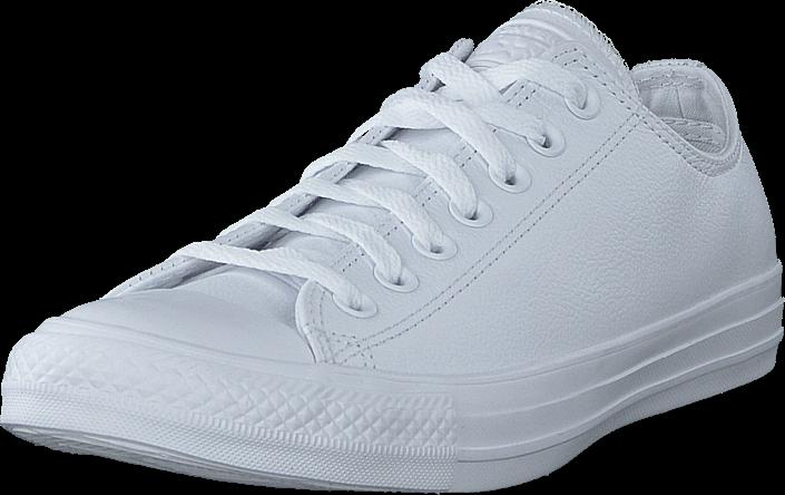 Kjøp Converse Chuck Taylor All Star Ox Leather White Monochrome Hvite Sko Online