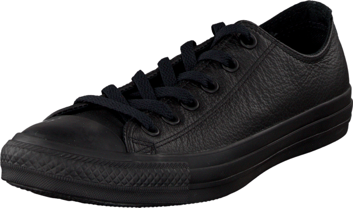 Kjøp Converse Chuck Taylor All Star Ox Leather Black Monochrome Svarte Sko Online