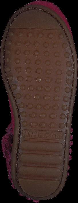 Kjøp Minnetonka Double Fringe Side Zip Rosa Sko Online