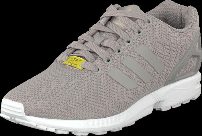Kjøp adidas Originals Zx Flux Aluminum/Running White Grå Sko Online