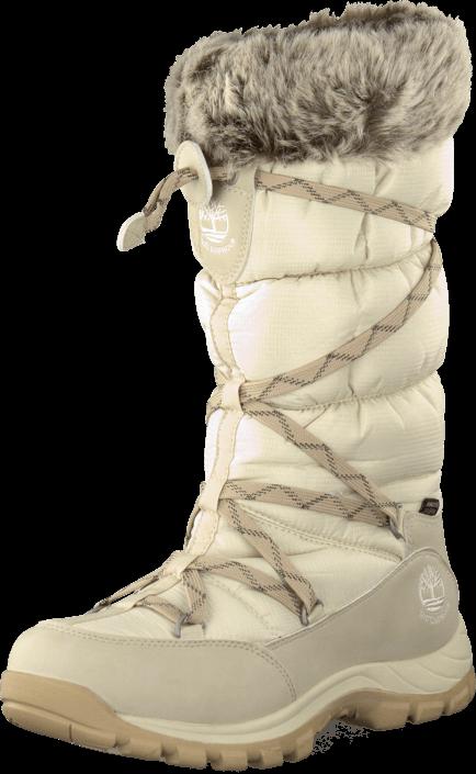 Kjøp Timberland Over The Chill Winter White Beige Sko Online