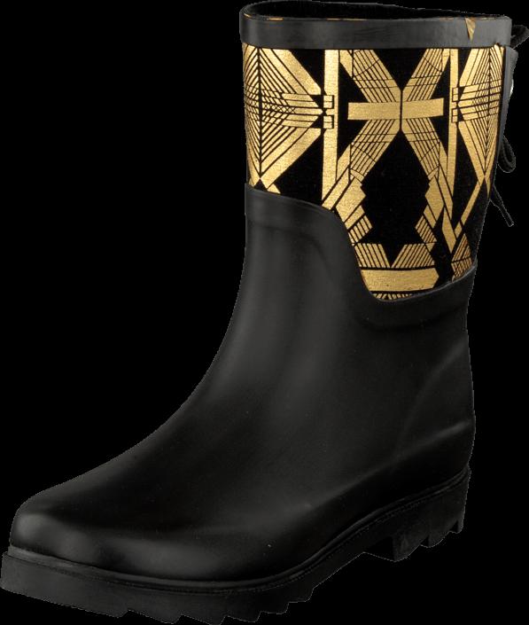 Kjøp Duffy 92-49200 Black/Gold Svarte Sko Online