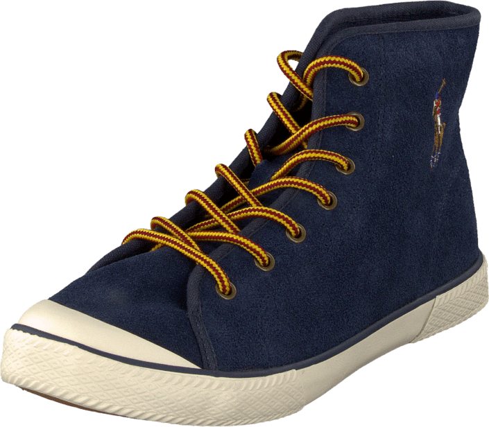 Kjøp Ralph Lauren Junior Chaz Mid Navy Blå Sko Online