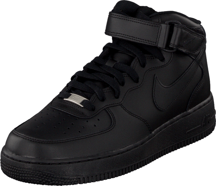 Kjøp Nike Air Force 1 Mid 07 Black Svarte Sko Online