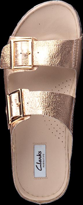 Kjøp Clarks Netrix Rose Copper Leather Brune Sko Online