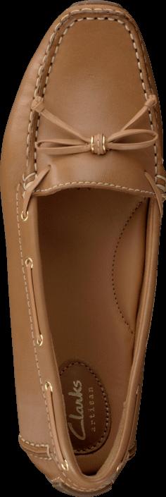 Kjøp Clarks Dunbar Groove Tan Leather Brune Sko Online