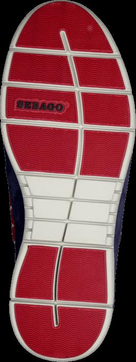 Kjøp Sebago Kinsley Slip on Navy/Red Blå Sko Online