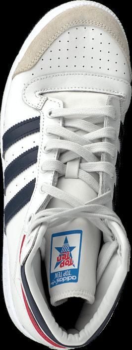 Kjøp adidas Originals Top Ten Hi Jr White/New Navy/Red Hvite Sko Online