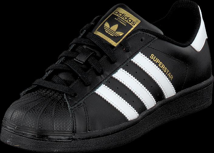 Kjøp adidas Originals Superstar Foundation Jr Black/White Svarte Sko Online