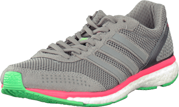 Kjøp adidas Sport Performance Adizero Adios Boost 2 M Grey/Flash Red/Flash Green Grå Sko Online