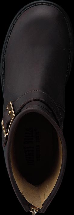 Kjøp Johnny Bulls Low Boot Zip Back Brown/Shiny Gold Brune Sko Online