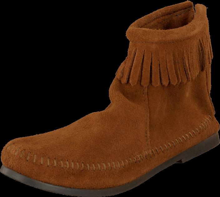 Kjøp Minnetonka Back Zipper Boot Brown Brune Sko Online