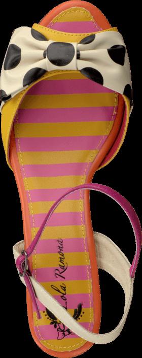 Kjøp Lola Ramona Elsie 411611-71 Yellow/creme/pink Brune Sko Online