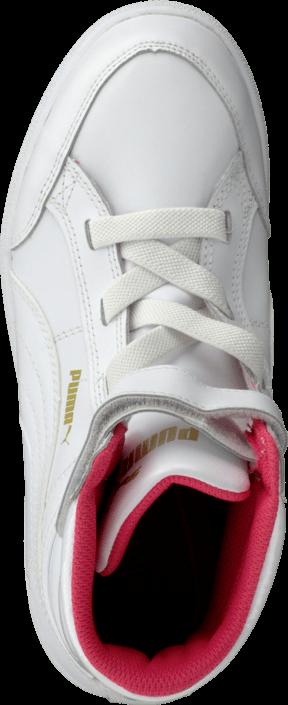 Kjøp Puma Puma Ikaz Mid Kids White-White-Geranium Hvite Sko Online