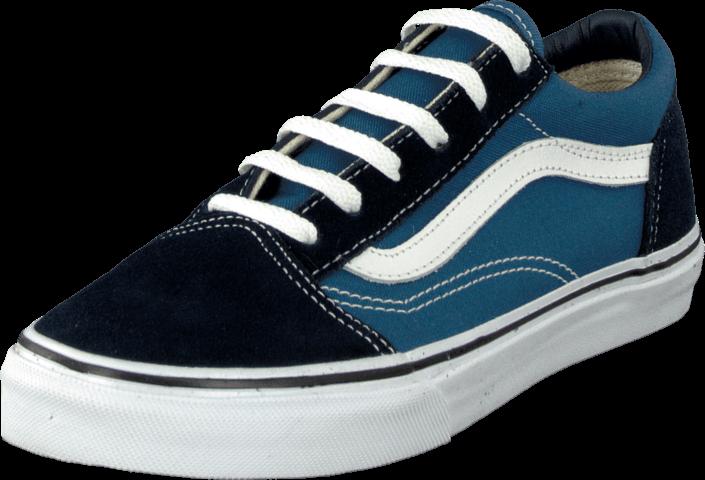 Kjøp Vans K Old Skool Navy/True White Blå Sko Online