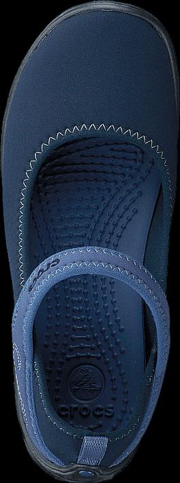 Kjøp Crocs Duet Busy Day Mary Jane GS Navy/Graphite Blå Sko Online