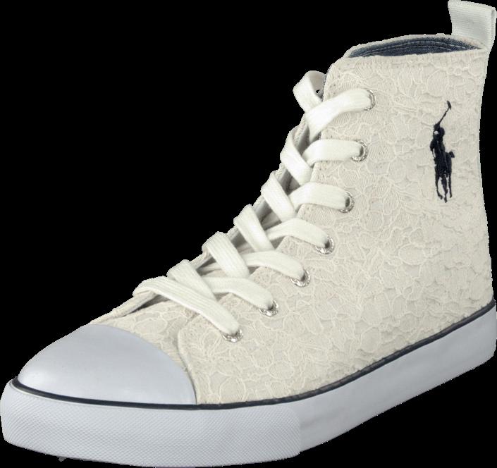 Kjøp Ralph Lauren Junior Harbour Mid White Lace Hvite Sko Online