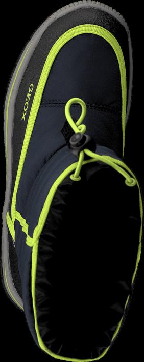 Kjøp Geox J Overland B Abx B - Ny+Pr.Dbk Navy/Lime Blå Sko Online