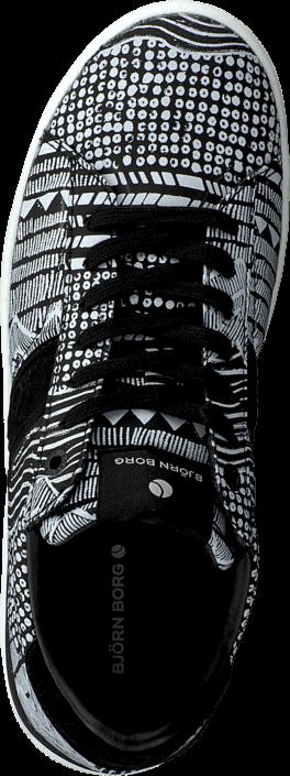 Kjøp Björn Borg T100 Low Art W Black Multi Grå Sko Online