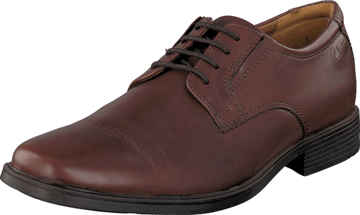 Kjøp Clarks Tilden Plain Brown Leather Rosa Sko Online