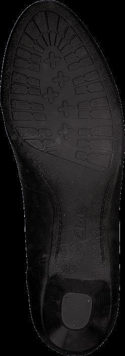 Kjøp Clarks Denny Harbour Black Leather Svarte Sko Online