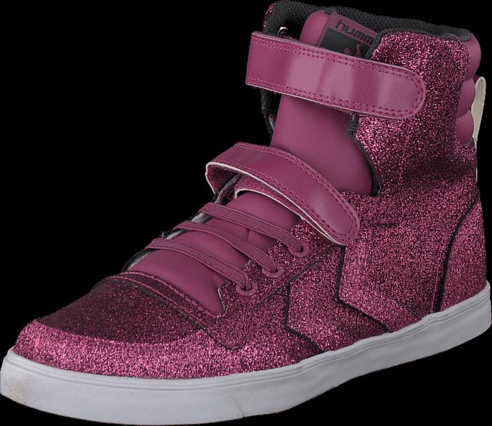 Red Sl Glitter Hi Jr Hummel Stadil Violet Sko Rosa Hummel Kjøp E0wFq