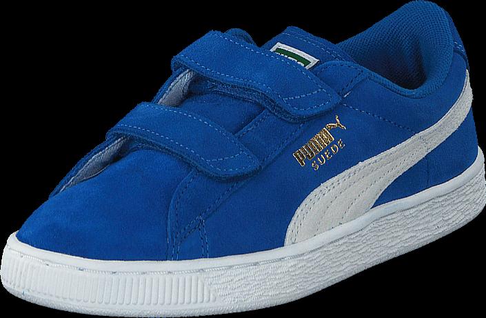 Kjøp Puma Suede 2 straps Kids Snorkel Blue-White Blå Sko Online