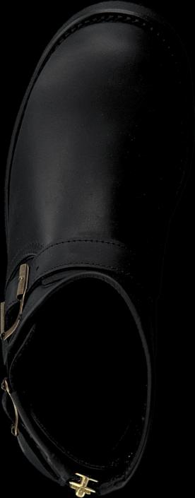 Kjøp PrimeBoots Engineer Zip Low Black Brass Svarte Sko Online