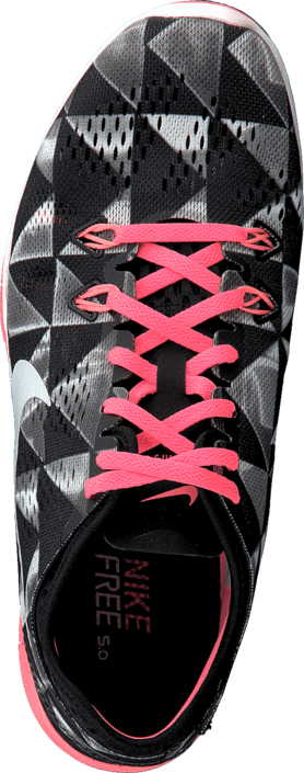 Kjøp Nike Wmns Nke Free 5.0 Tr Fit 5 Prt Black/White/Lava Glow Grå Sko Online