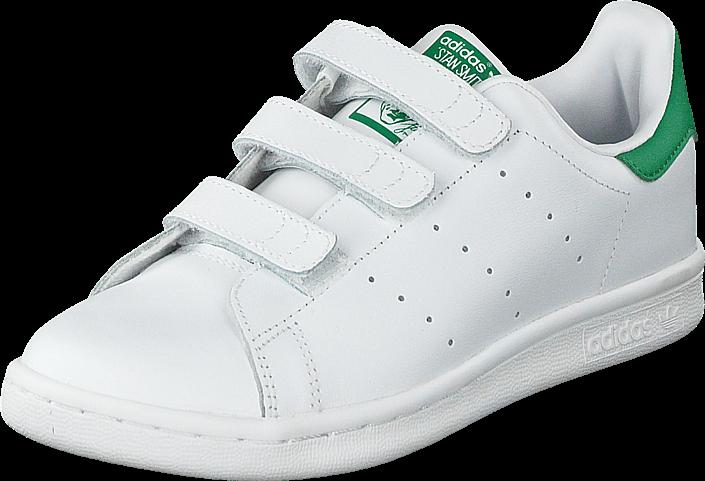 Kjøp adidas Originals Stan Smith Cf C Ftwr White/Green Hvite Sko Online