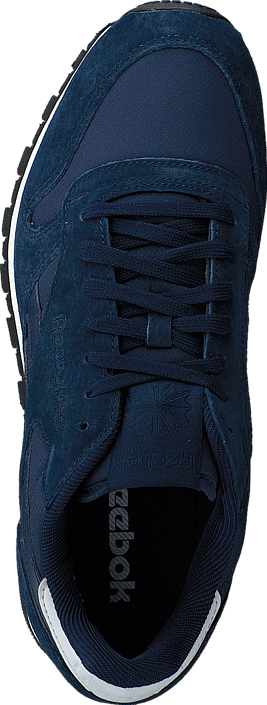 Kjøp Reebok Classic Cl Leather Re Clip Collegiate Navy/White/Steel Blå Sko Online