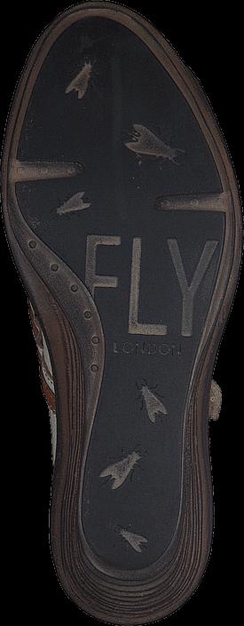 Kjøp Fly London Saia Offwhite/Mustard Brune Sko Online