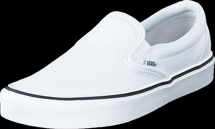 Kjøp Vans Slip-On Lite + (Canvas) True White Hvite Sko Online