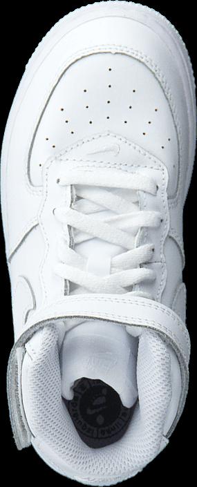 Kjøp Nike Force 1 Mid (Td) White/White-White Hvite Sko Online