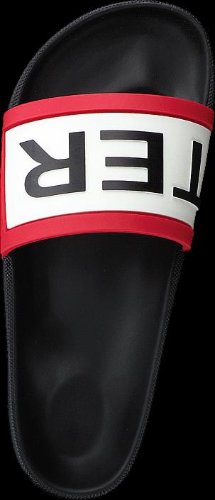 Kjøp Hunter Colour Haze Hunter Slide Black Svarte Sko Online