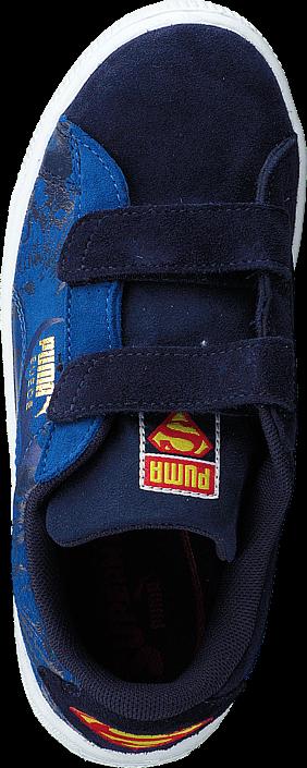 Kjøp Puma Suede Superman 2 V Kids Peacoat-Princess Blue Blå Sko Online