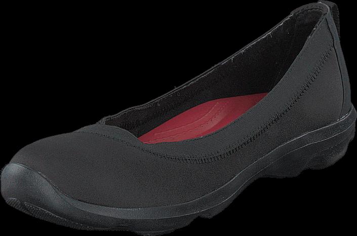 Kjøp Crocs Busy Day Stretch Flat Black/Black Svarte Sko Online
