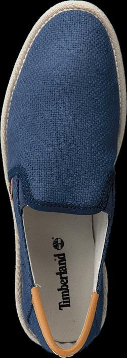 Kjøp Timberland City Shuffler Fabric Slip Navy Burlap Blå Sko Online
