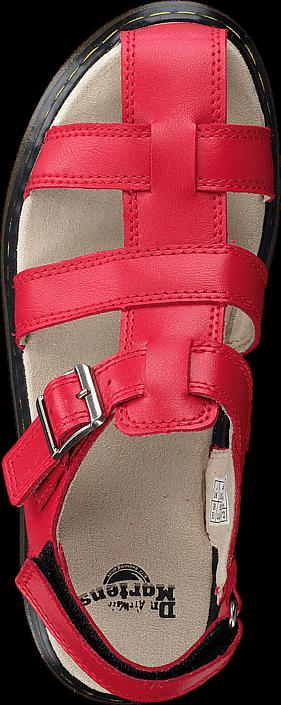 Kjøp Dr Martens Sailor Red Beige Sko Online