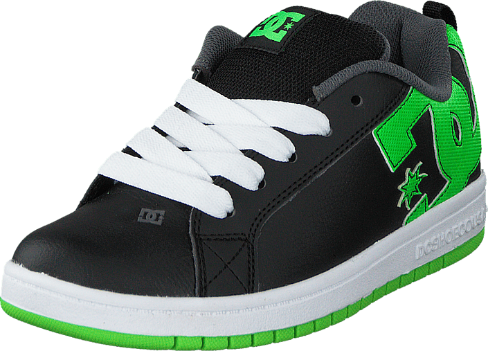 Kjøp DC Shoes Dc Kids Court Graffik Shoe Blk/Grs Svarte Sko Online